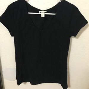 H&M black v neck tee